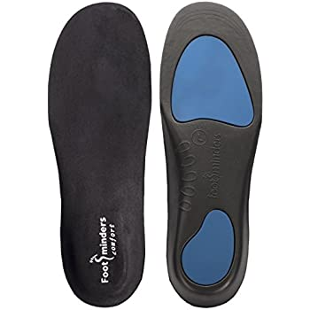 Footminders COMFORT Orthotic Arch Support Insoles for Sport Shoes and Work Boots (Pair) (X-SMALL: Men 3½ - 5 Women 4½ - 6) - Relieve Foot Pain Due to Flat Feet and Plantar Fasciitis