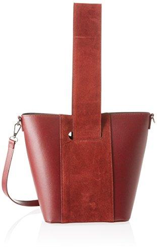 Chicca Borse 8886, Borsa a Spalla Donna, 31x26x16 cm (W x H x L) Rosso (Bordo)