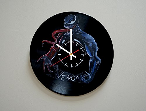 Ultimate Marvel Vs Capcom 3 Characters Costumes (Handmade Really Contemporary HANDPAINTED Vinyl Record Wall Clock - Get Unique Home Room Wall Decor - Gift Ideas For Men and Women - Comics Fictional Character Cool Art Design)
