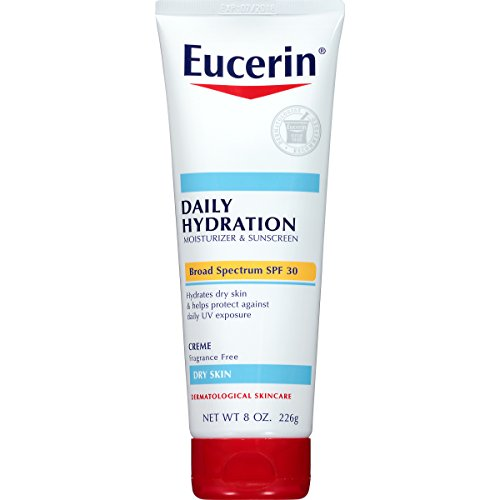 Sun Daily Body Lotion - Eucerin Daily Hydration Broad Spectrum SPF 30 Body Cream, 8.0 Ounce