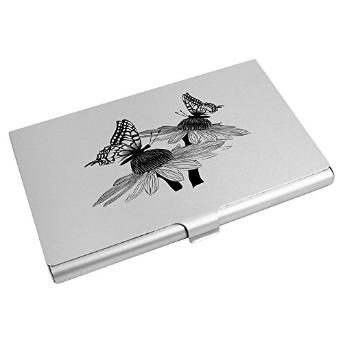 Card Card Holder Credit Wallet Business 'Butterflies Azeeda CH00008989 On Daisies' Iq00Tf