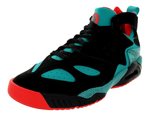 Nike para hombre Air Tech Challenge hrche Suede Athletic zapatillas Black/Turbo Green/Lt Crimson
