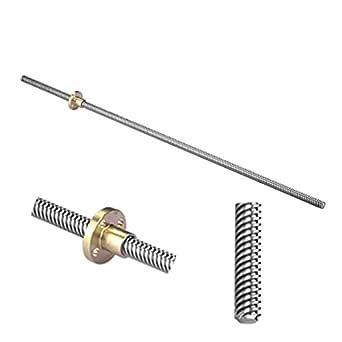 S SIENOC Impresora 3D 8 mm Cable de rosca Varilla Carril lineal Barra de eje 500 mm + Tuerca T8 (Estilo 1)