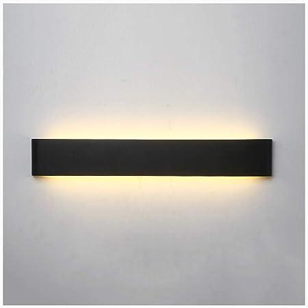 Aplique pared lampara Lámpara de pared moderna minimalista LED Living Room Dormitorio Escalera Wall Studio apliques (color : NEGRO, Tamaño : 24W/60CM): Amazon.es: Hogar