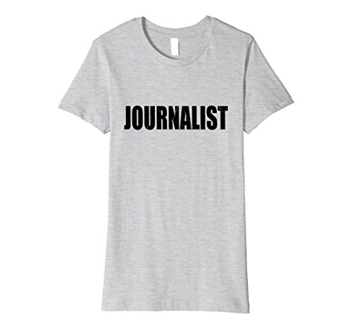 Womens Journalist Halloween Costume Party Cute & Funny T shirt Large Heather Grey - Female Journalist Costume