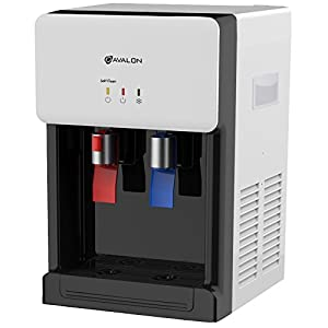 Avalon Countertop Self Cleaning Bottleless Water Cooler Water Dispenser - Hot & Cold Water, NSF Certified Filter- UL/Energy Star Approved, White