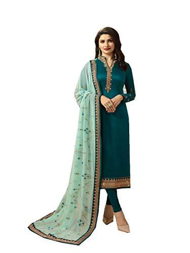 Delisa Ready Made New Designer indian/pakistani fashion salwar kameez for women VF (XX-LARGE-46, Turquoise)