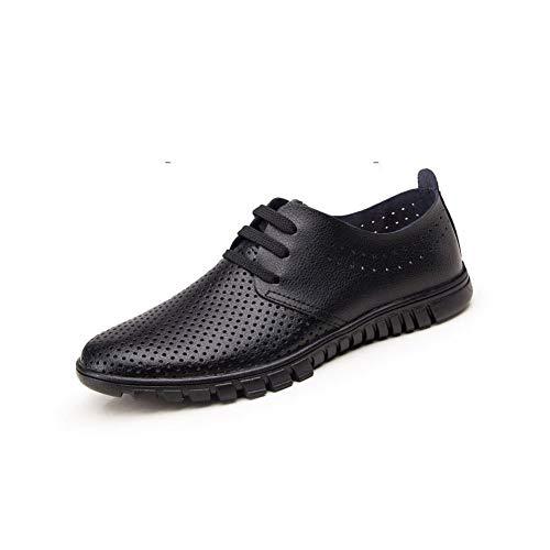 UK6 Go di occasionali For Work Ff Colore Vera Leather Shoes EU39 Lavori Size nera Men Black Bottom pelle Summer 5 CN40 Father vacchetta To a7qqp1wYn