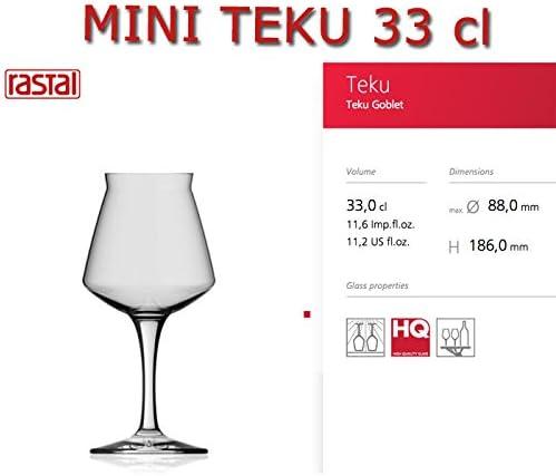 n/° 6 bicchieri MINI TEKU 33 RASTAL Calice Universale Degustazione BIRRA Artigianale capacit/à: 33 cl