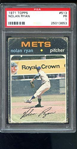- 1971 Topps #513 Nolan Ryan New York Mets PSA 1 Graded Baseball Card
