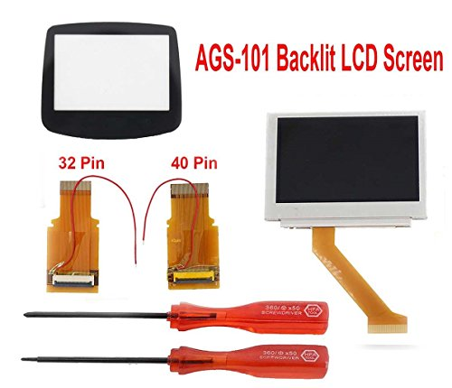 MOD LCD Backlight Kit 32 Pin GBA SP AGS-101 Backlit Screen for Gameboy Advance