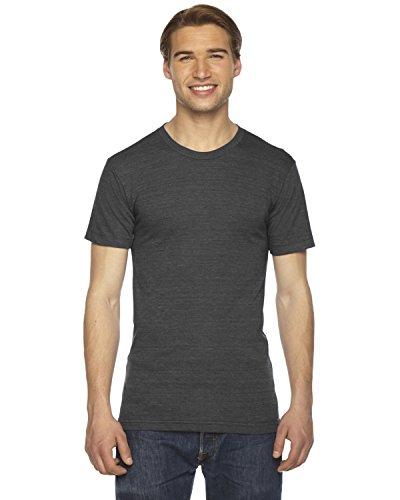 American Apparel TR401W Unisex Triblend Short-Sleeve Track T-Shirt Tri Black L