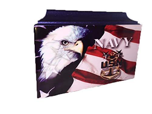 441 Blue Navy Veteran Adult Cremation Urn