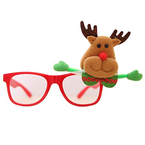 3d Curtain - 1pcs Fashion Glasses Christmas Tree Holders Room Store Shop Festival Santa Claus Pers Decoration - Fabric Baby Cake Bag 1st Holly Birthday Decor Bird Topper Branch Tote Artificial ()