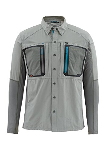 Simms Fly Fishing Boot (Simms Taimen TriComp LS Shirt, Smoke, Medium)
