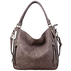 Women Handbags Hobo Shoulder Bags – AB Earth Large Designer Ladies PU Leather Purse and Bag,H004