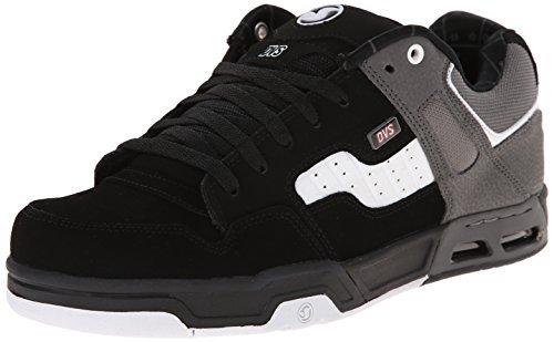 DVS Men's Enduro Heir Skate Shoe,Black/White,9.5 M