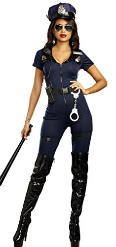 Wonder Lingerie Plus Women's Sexy Police Lieutenant Ivana Misbehave - Sunglasses Boots Police