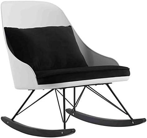 2xhome White Modern Large Rocking Chair