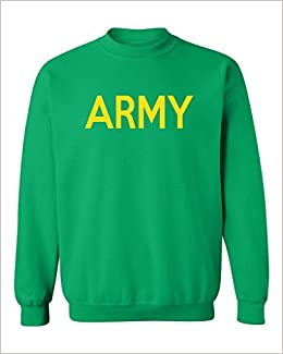 Amazon.com  P B US TRAINING MILITARY GEAR US ARMY GOLD Crewneck ... 0e3f80444