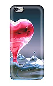 Hot Style TRXfyGl14852MtMeb Protective Case Cover For Iphone6 (nice Heart Water )
