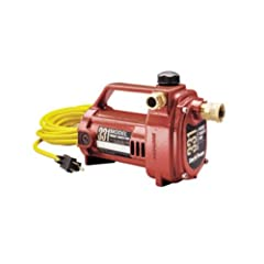 331 Features: -Pump.-Perfect for boosting water pressure, draining hot water tanks and general water transfer.-Not intended for permanent installations.-0.75'' Brass garden hose connectors.-Glass reinforced thermoplastic impeller.-Large prime...