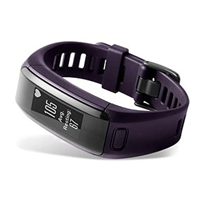Garmin Vívosmart HR Activity Tracker Regular Fit - Imperial Purple (Certified Refurbished)