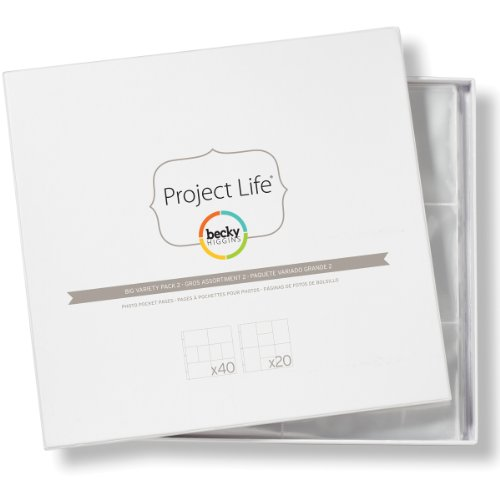 Project Life by Becky Higgins Photo Pocket Pages - Big Variety Pack 2 -