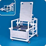 Innovative Products Unlimited SCC260RCOSN Deluxe Reclining Shower Chair Commode