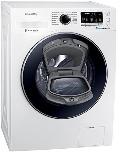 Samsung WW8EK5400UW/EG Waschmaschine FL / A+++ / 116 kWh / Jahr / 1400 UpM / 8 kg / Add Wash / Smart Check / Digital Inverter Motor / weiß