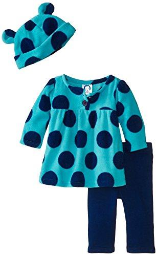 Gerber Baby Girls' Three-Piece Micro-fleece Top, Cap, and Legging Set