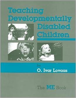 Developmentally Disabled Children >> Teaching Developmentally Disabled Children The Me Book O Ivar