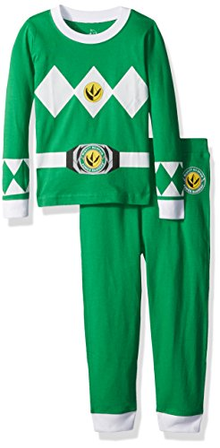 Intimo Little Boys' Power Rangers Ranger 2 Piece Tight Fit, Green, 2T -