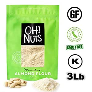 Amazon.com : 3LB Almond Flour Blanched All Natural, Flour