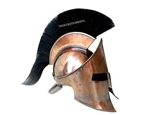 thor-instrumentsco-new-medieval-roman-spartan-helmet-king-300-leonidas-armor-helmet-with-black-plume