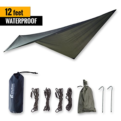 SALE CityBear 12 FT WATERPROOF Rain Fly Backpacking Tarp Ultralight Portable Bivy Rain Fly Hammock Shelter/ Instant Tent ...  sc 1 st  Hiking Gear Store & CityBear 12 FT WATERPROOF Rain Fly Backpacking Tarp: Ultralight ...