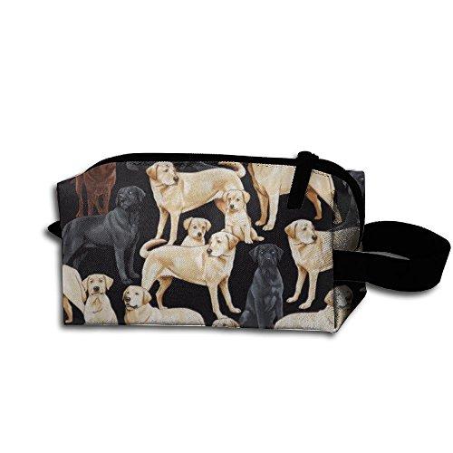 Storage Bag Travel Bag Golden Dog Yard Cosmetic Bag Portable Travel Makeup Bag