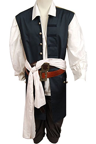 Cosplaysky Pirates Of The Caribbean Costume Jack Sparrow Outfit X-Small by Cosplaysky (Image #2)