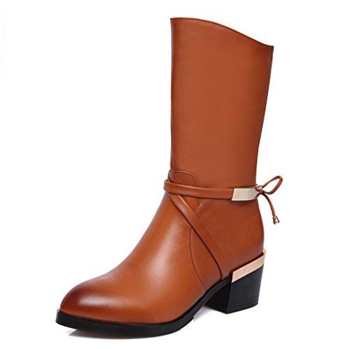 Nine SevenMid-calf Boots - Botas mujer marrón