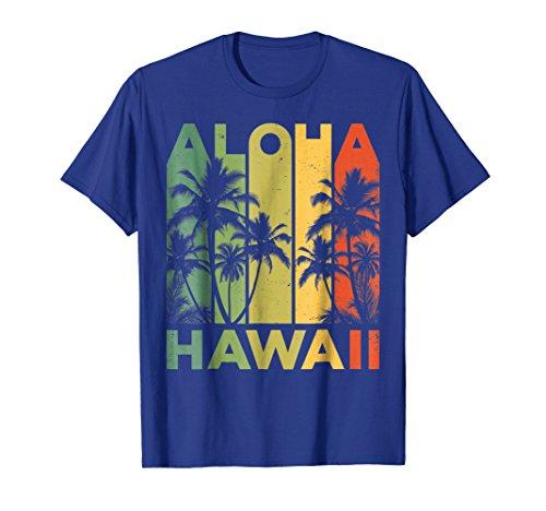 b5625190 Mens Aloha Hawaii Hawaiian Island T shirt Vintage 1980s Throwback 3XL Royal  Blue