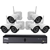 Lorex 6-Channel Wire-Free Security System with 6x 1080p High Definition Rechargeable Cameras with Bonus Extra Rechargeable Battery Pack