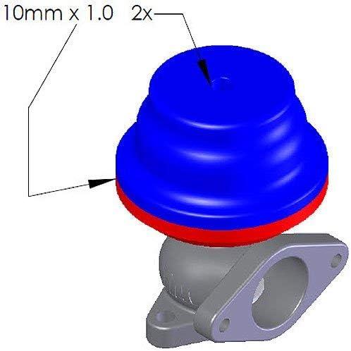 lrg. blue spring 14.50 psi//1.00 bar TiAL F38 Wastegate Purple Body