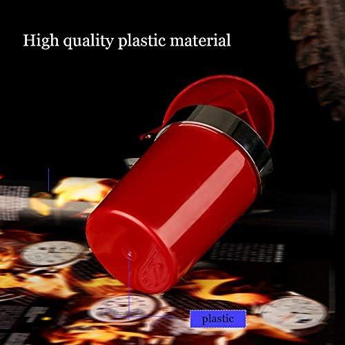 ポータブルカー灰皿、蓋付きの車Cupholder旅行灰皿とLEDライト、デスクトップホームオフィスの装飾のための灰皿喫煙,赤