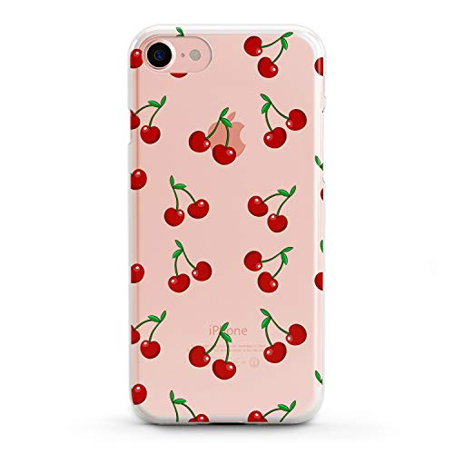 Lex Altern TPU iPhone Cases X 8 Plus 7 6s 6 SE 5s 5 Cute Cherry Red Clear Apple Phone Fruit Cover Xr Soft Tropical Silicone Food 2018 Print Protective Summer Max Xs Transparent Kids Girly Women