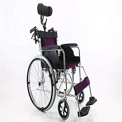 Shisky Silla de Ruedas Plegable de aleación de Aluminio para el Equipo médico portátil de Personas Mayores con Movilidad Reducida