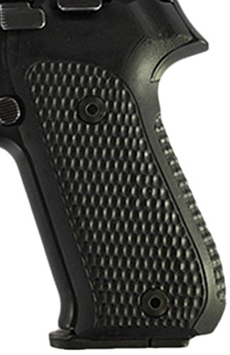 Hogue Sig P220 American Grips (Pirahna G-10), Solid Black