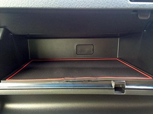KINMEI Honda RK Step WGN Spada specially designed red interior door pocket mat drink holder slip non-slip storage space protection rubber mats STEP WGN HONDArk-r by KINMEI (Image #5)