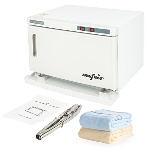 Mefeir 16L Salon Hot UV Sterilizer Cabinet with a Tong,Towel Warmer Tabletop Ultraviolet Sanitizer Heater for Massag Spa Facial Beauty Nail Tattoo Tool,Sterilization Machine Home Health Care Equipment from mefeir