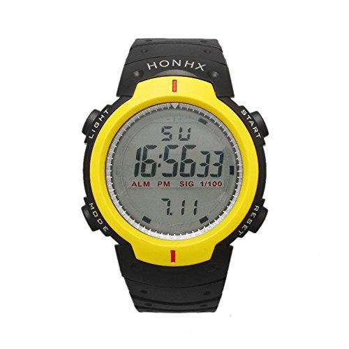 LCD Digital deportivos resistentes al agua Boy s reloj Digital con esfera pantalla Digital y