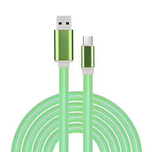 Lefthigh LED Flow Glow Mircro USB/Type-c Cable Wire 2.4A Quick Charge Charger Data Cable for Phone ()